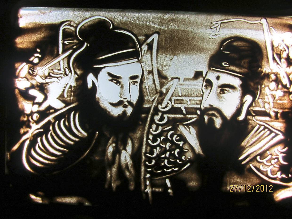Depiction of military generals Zhao Zilong (right) and Zhang Fei from China's Three Kingdoms period. Photo: Loong Bee