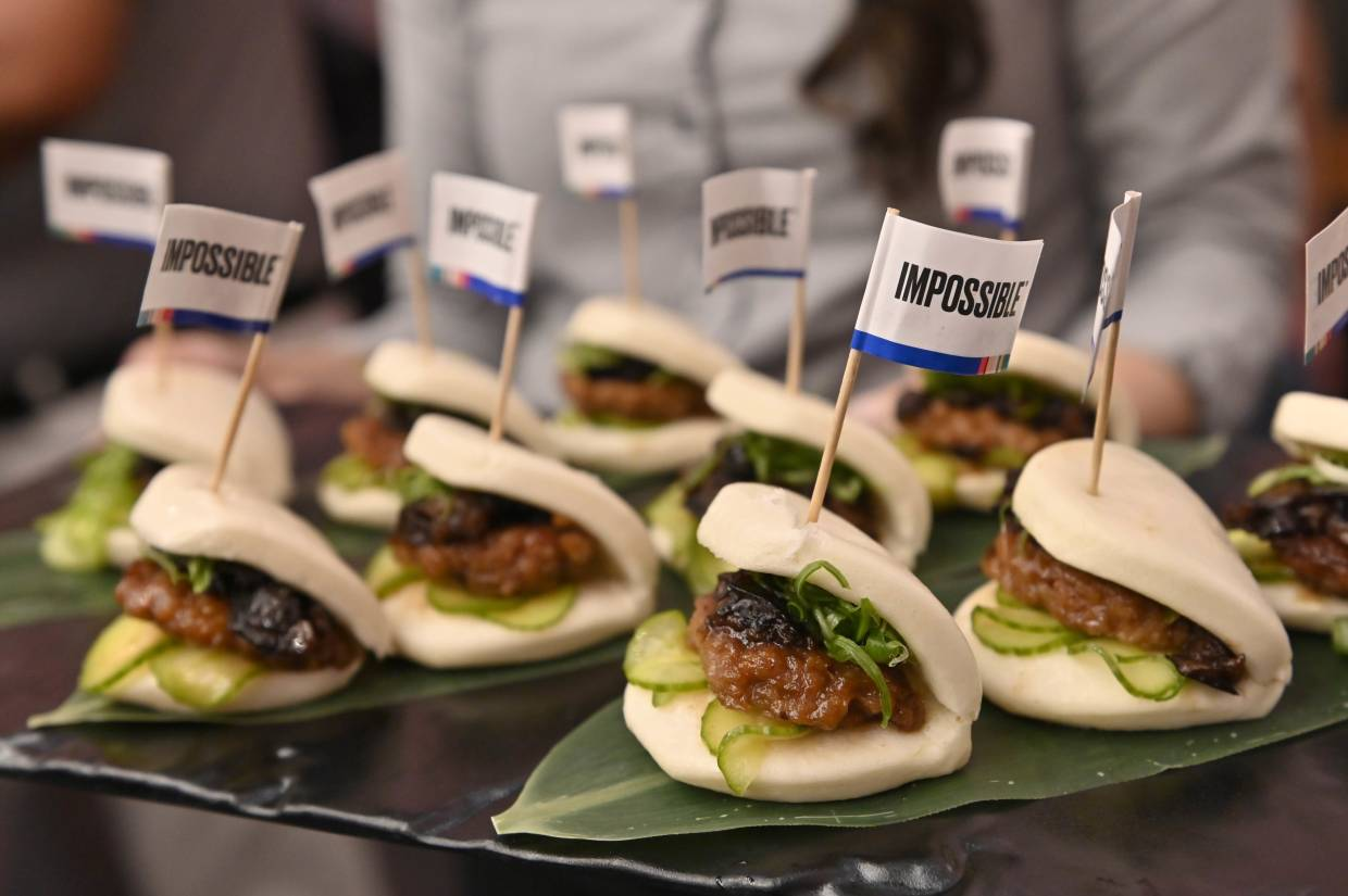 Impossible Pork Char Siu Buns sampled during an Impossible Foods press event for CES 2020 in Las Vegas, Nevada. — AFP