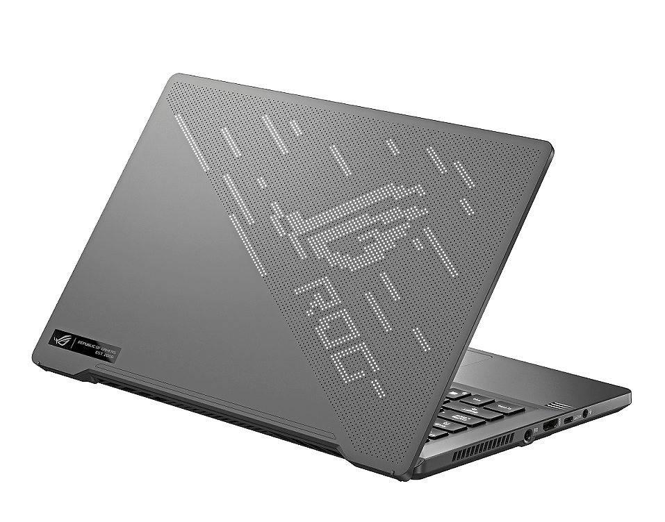 The Zephyrus G14 gaming laptop has an optional dot-matrix display made of 1,215 mini LEDs.