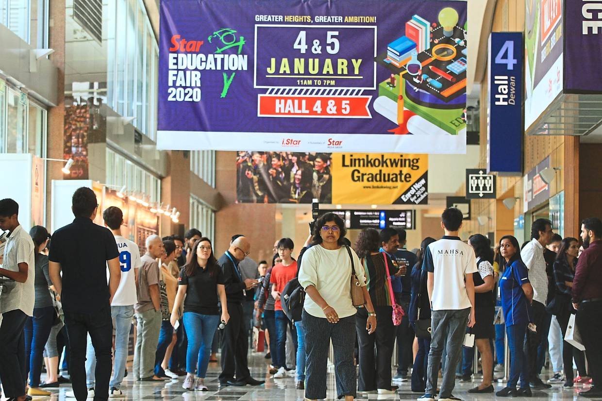 The Star Education Fair 2020 started on a vibrant note with many parents and students thronging the halls to seek the best education opportunities.