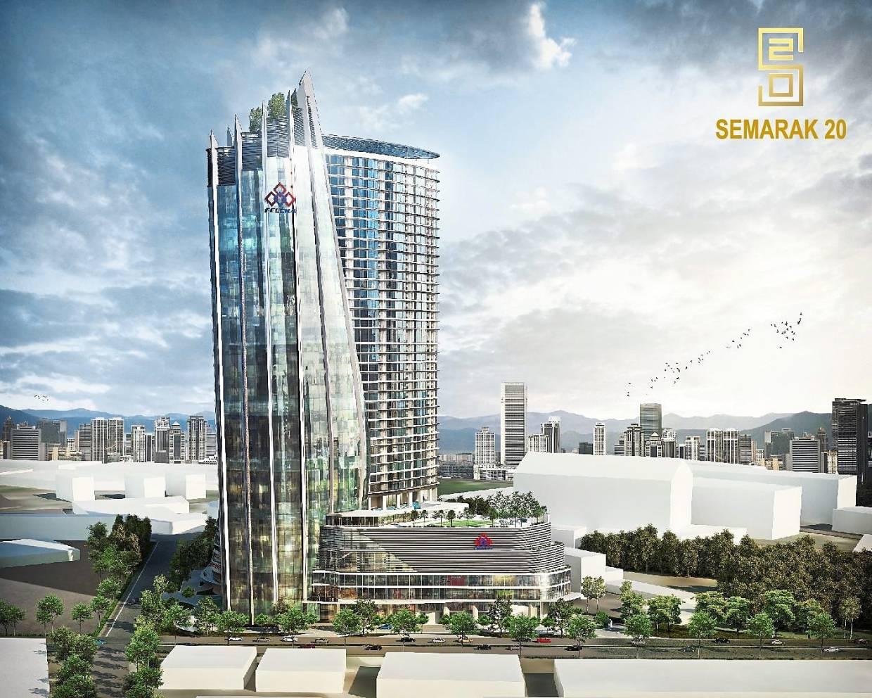 RM1bil project: An artist's impression of Felcra's RM1bil Semarak20 mixed development property project along Jalan Semarak in Kuala Lumpur.