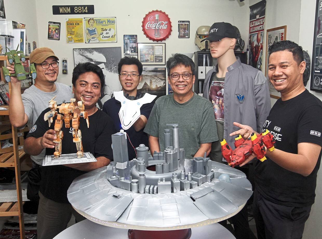 The Unity Macroverse team (from left) Dave Liew, Adely Ariffin, Paul Low Ming Woh, Azlan Tahir and Akmal Izzat in their studio in Petaling Jaya. Photo: The Star/Azlina Abdullah