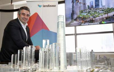 Lendlease Asia chief executive officer Tony Lombardo said the retail portion is 50% leased and committed compared with 26% a year ago and final negotiations on retail tenancies are on-going.