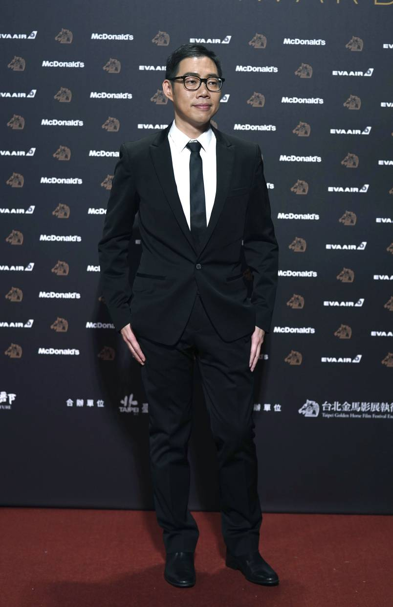 Lin at the 56th Golden Horse Awards in Taipei in November. He was nominated for Best Director at the 2019 Golden Horse Awards. — AP