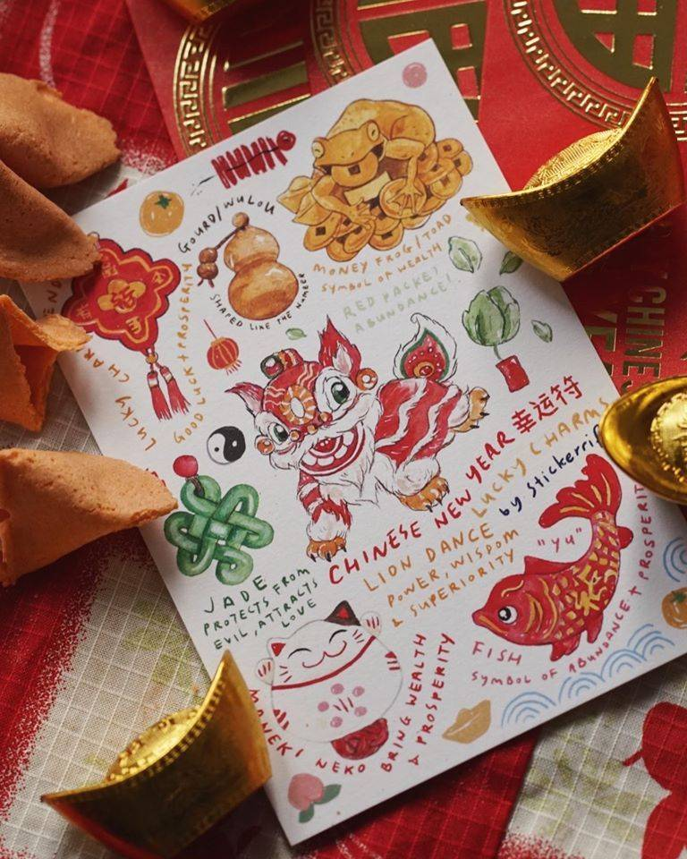 Stickerrific's festive greeting card contains all the signature Chinese New Year essentials. Photo: Stickerrific