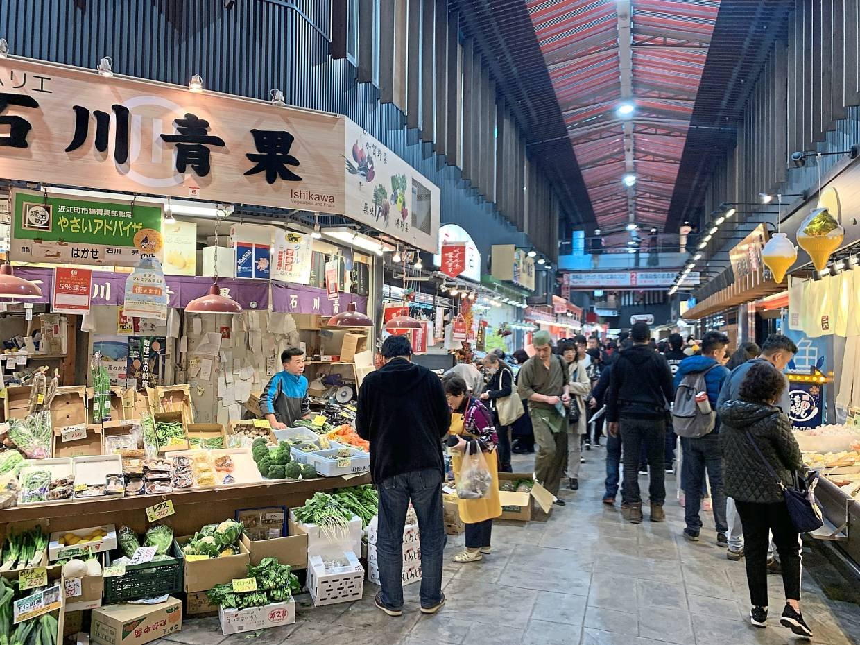 The nearly 300-year-old Omicho Market in Kanazawa is rightly called the local kitchen, with its abundance of fresh produce and seafood. DINESH KUMAR MAGANATHANThe Star