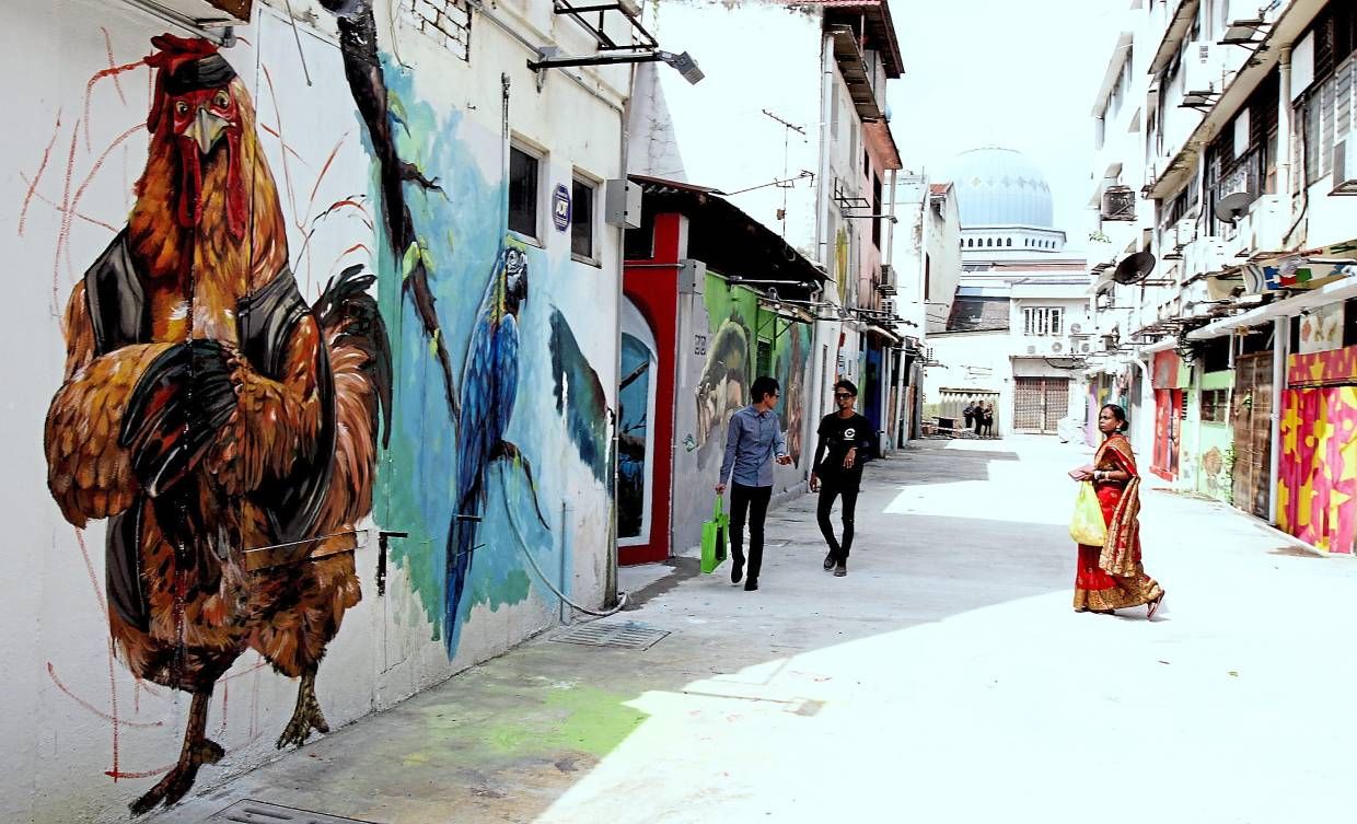 Social media users have been uploading pictures of the murals along Heritage Walk in Klang.