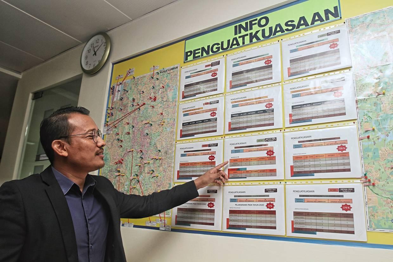 Mohd Zahir showing the illegal dumping hotspots.