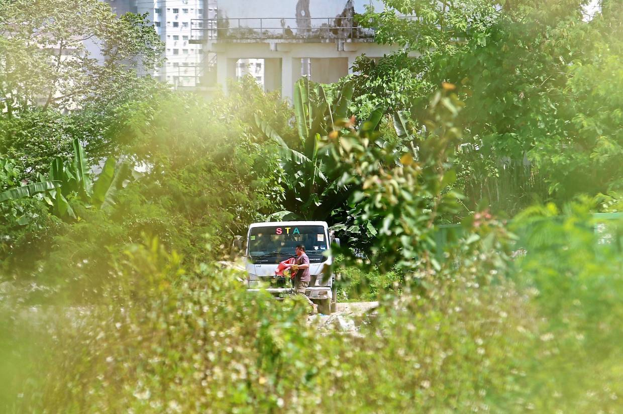 A man spotted dumping rubbish on a private land.