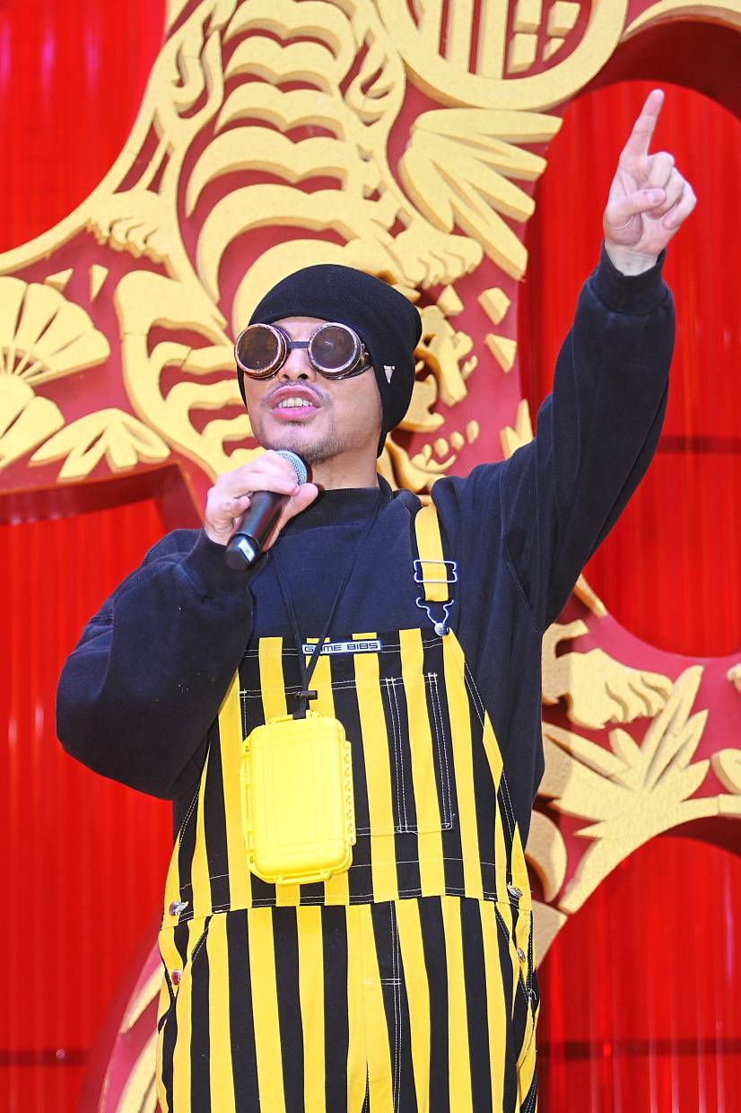 Namewee performing at the event.
