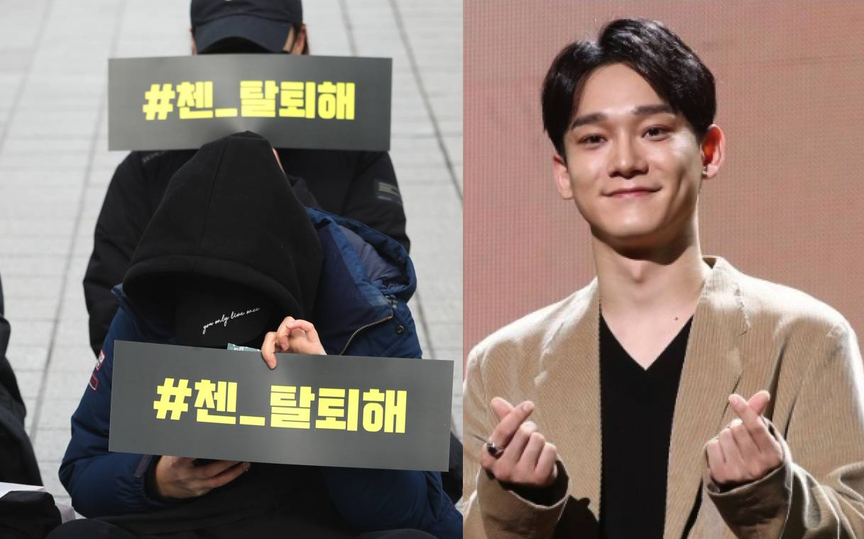 Upset fans demand that 'betrayer' Chen leave EXO, after marriage announcement
