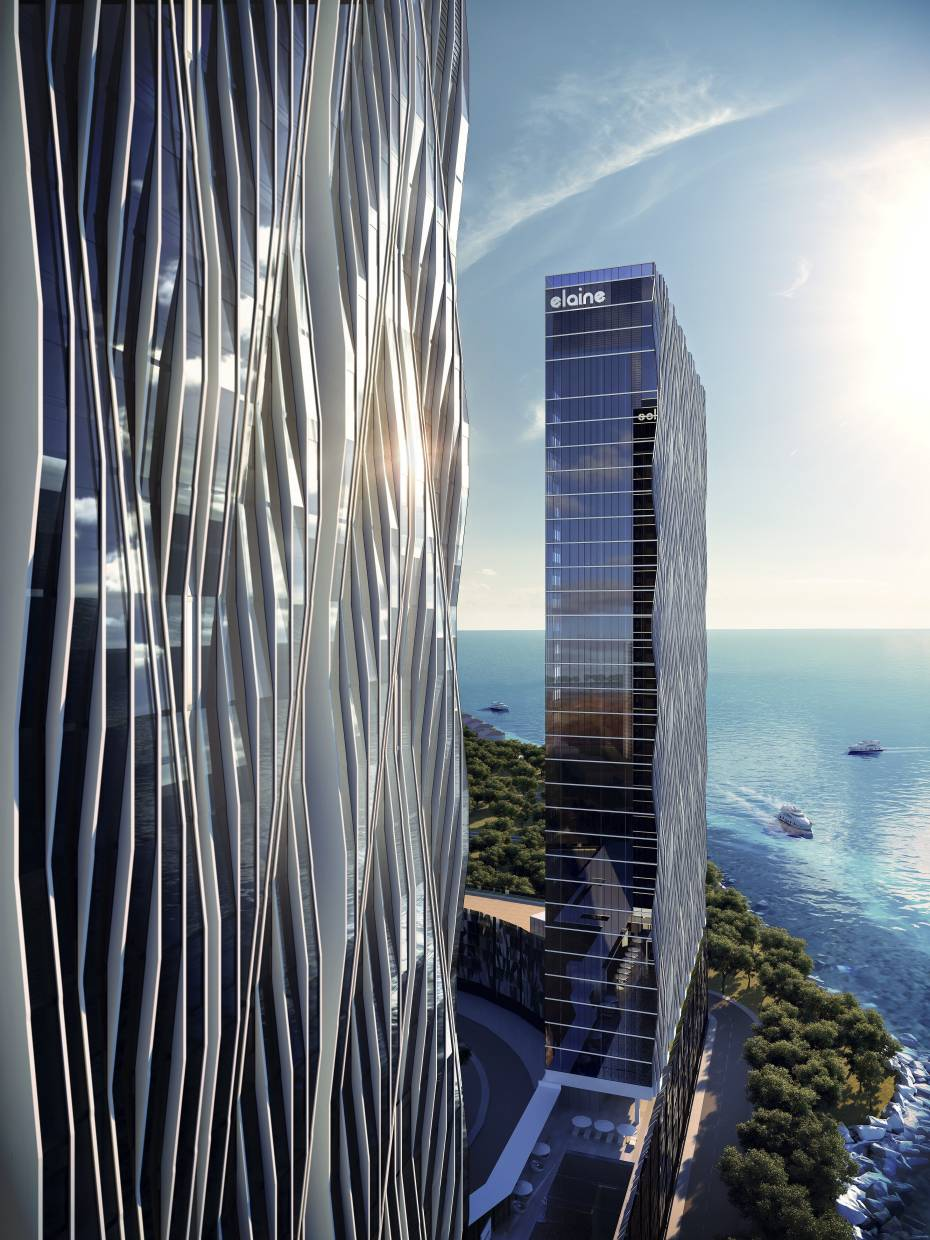The development's shimmering facades are inspired by cut diamonds
