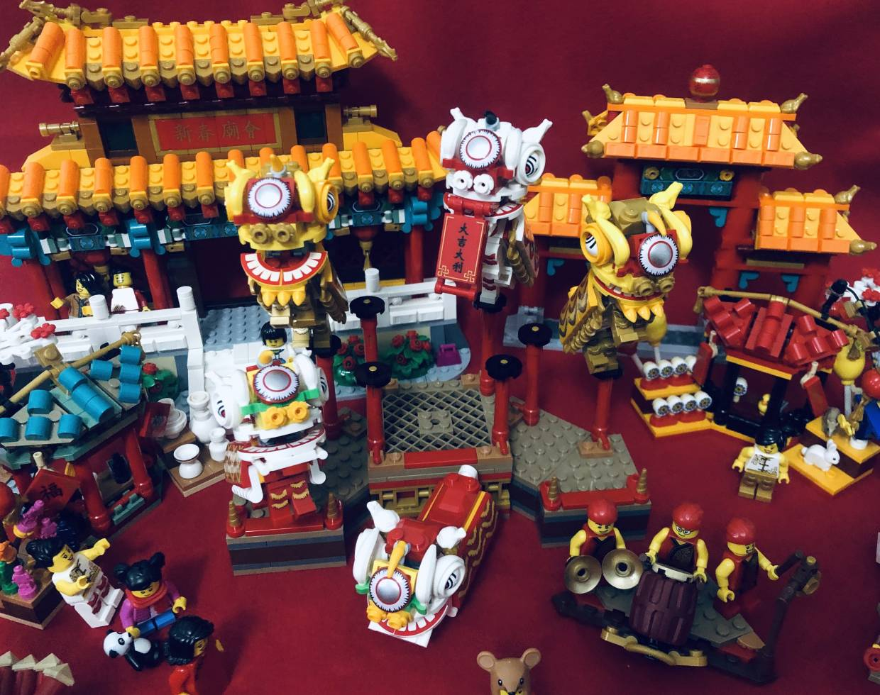 You can combine both sets together to make one epic CNY scene!