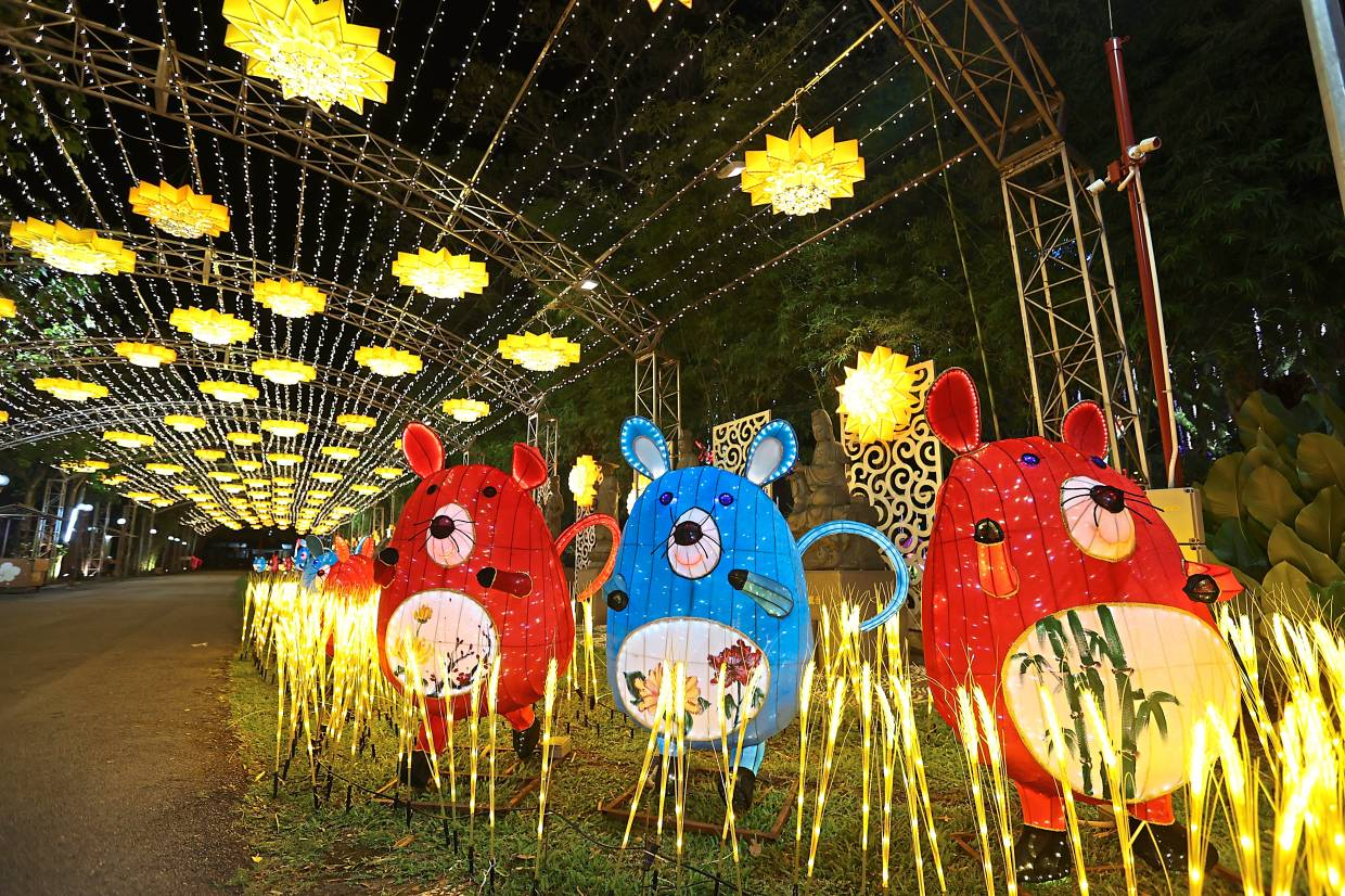 Many of the lanterns on display at the festival are fashioned after the rat. —  Photos: GLENN GUAN/The Star