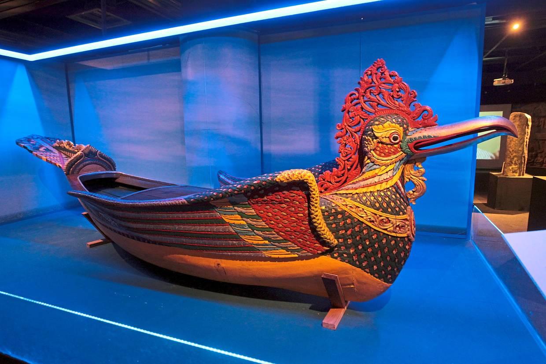 The Petala Indera Boat (from Kelantan), with a garuda as its figureheard, is similar to the Royal Kelantanese boat named Petala Sera. Photo: The Star/Art Chen