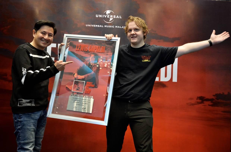 Lewis Capaldi's debut album was certified platinum in Malaysia, selling 10,000 copies. Photo: RAJA FAISAL HISHAN/The Star