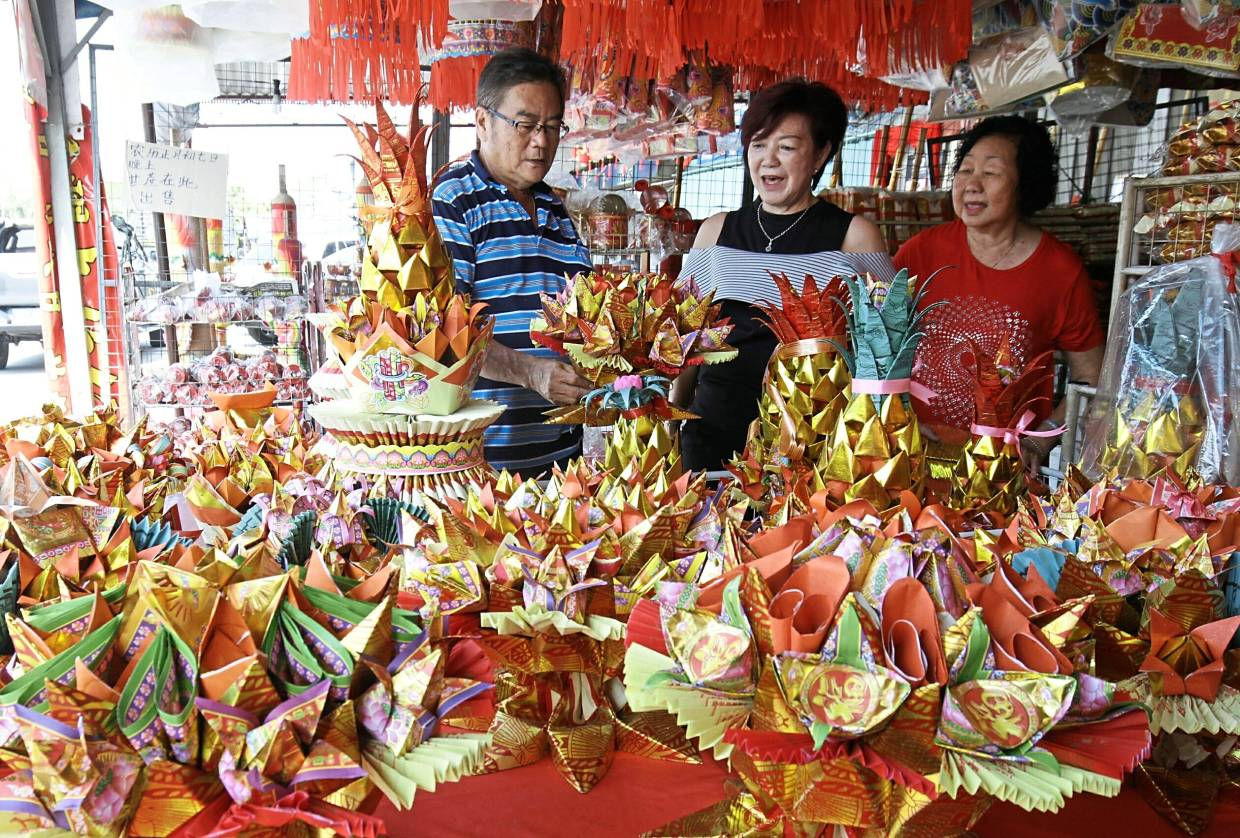 Folded joss paper a unique prayer offering | The Star