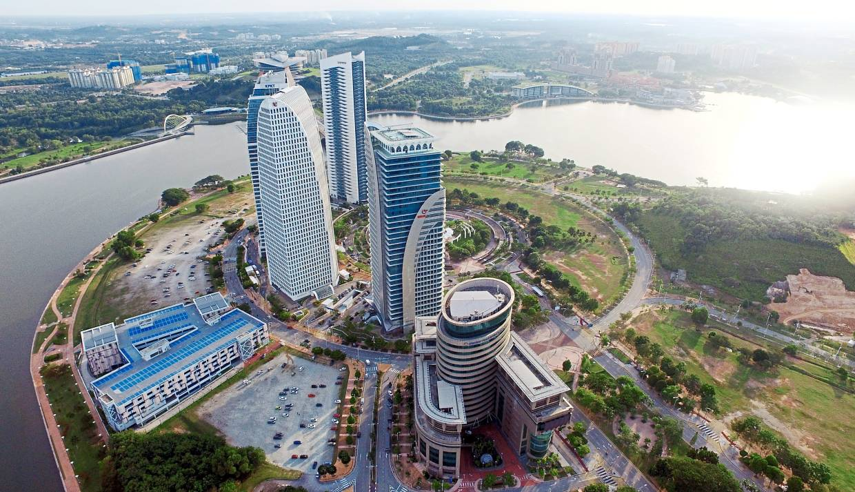 Putrajaya is known for its government buildings like these in Dataran Gemilang, Presint 4.