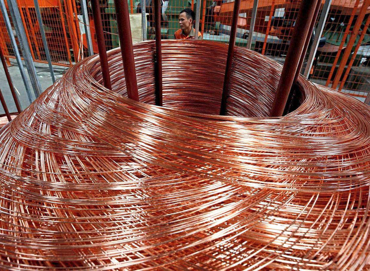 Copper rods are seen at Truong Phu cable factory in northern Hai Duong province, outside Hanoi, Vietnam. Reuters filepic