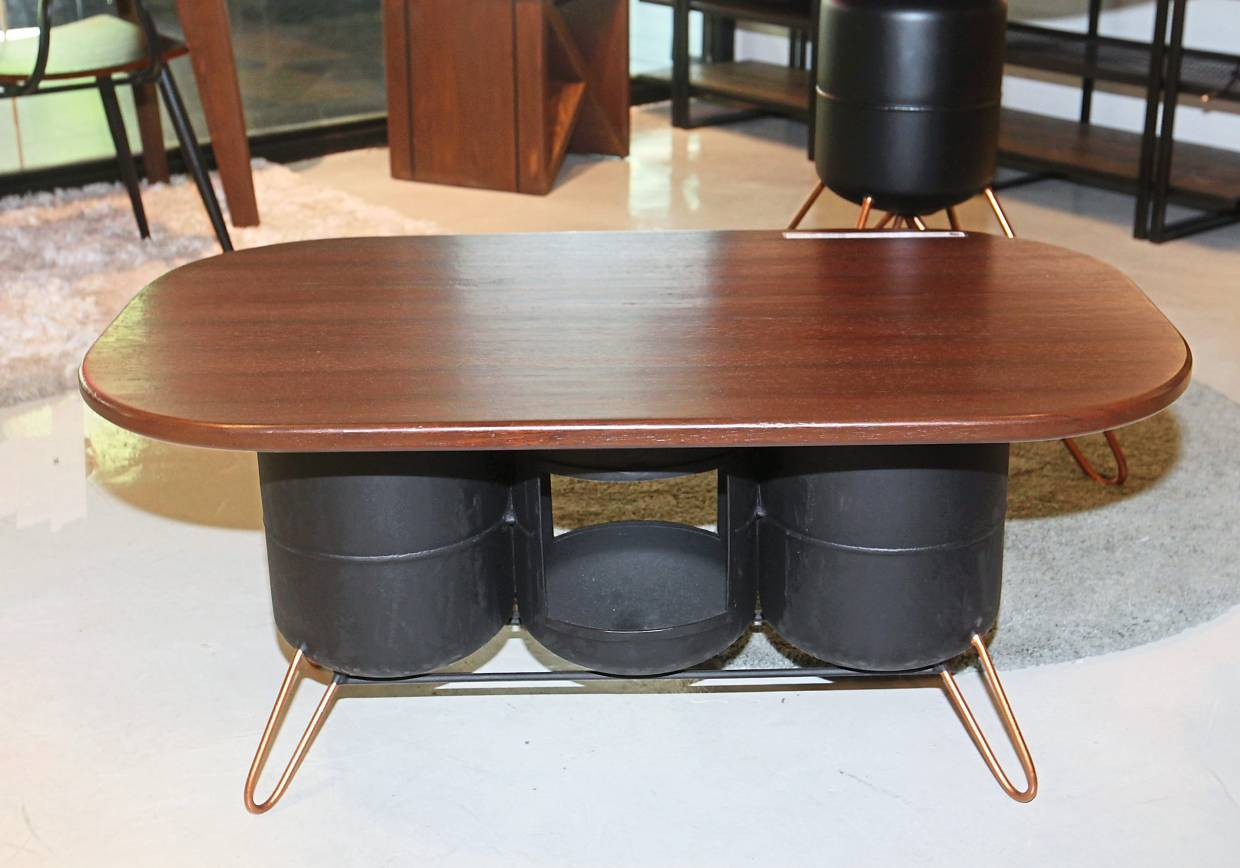 Careful design: Some of its furniture are designed from waste materials like old gas tanks.