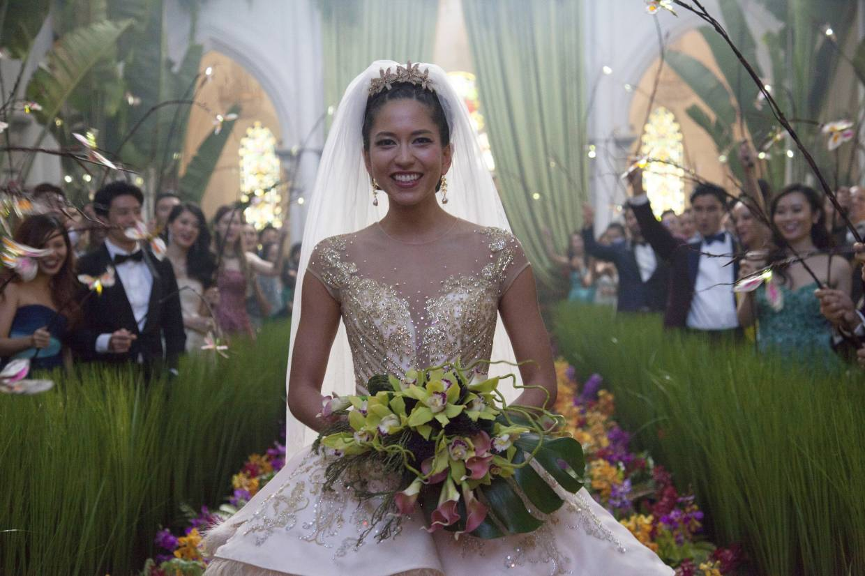 Ong helped create some of 'Crazy Rich Asians' sumptuous outfits. Shown here is the wedding dress in a titular scene from the film.