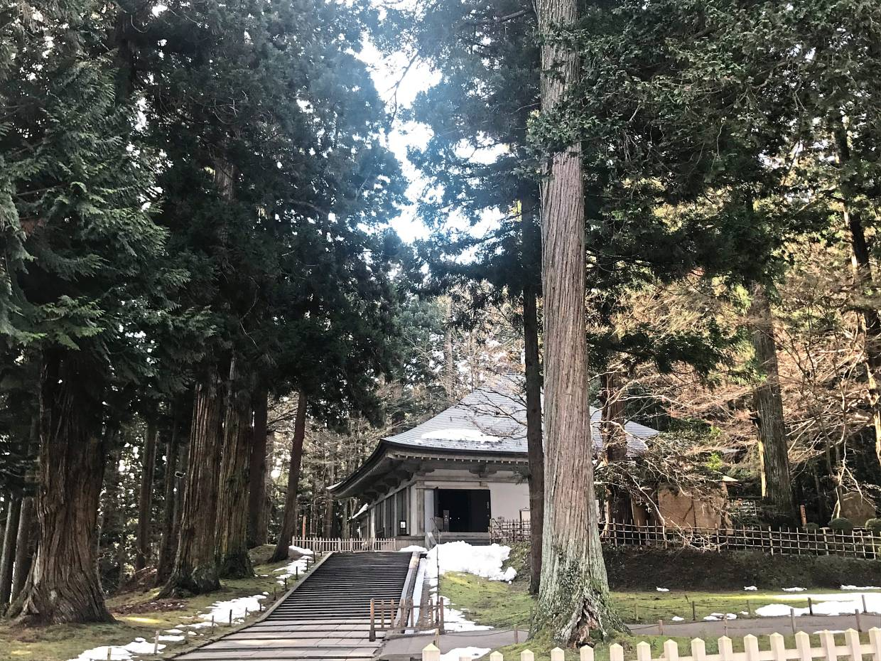 Chuson-ji temple is a Unesco World Heritage site, and its bells tolled for an hour-and-a-half in March 2011 for the victims of the 2011 earthquake and tsunami victim in nearby Fukushima.