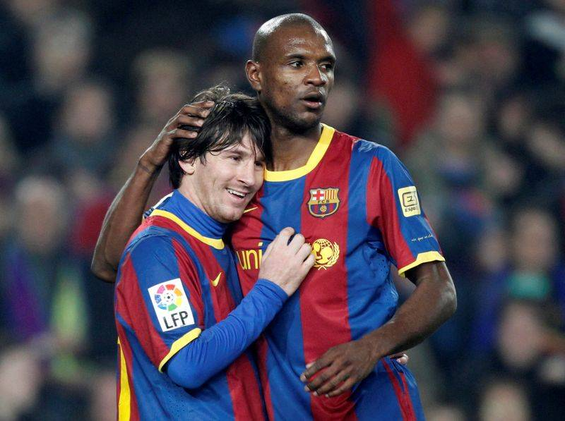 Image result for eric abidal messi