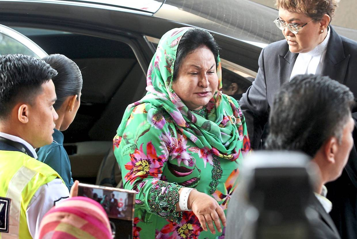 Day One: Rosmah arriving at the Kuala Lumpur High Court.