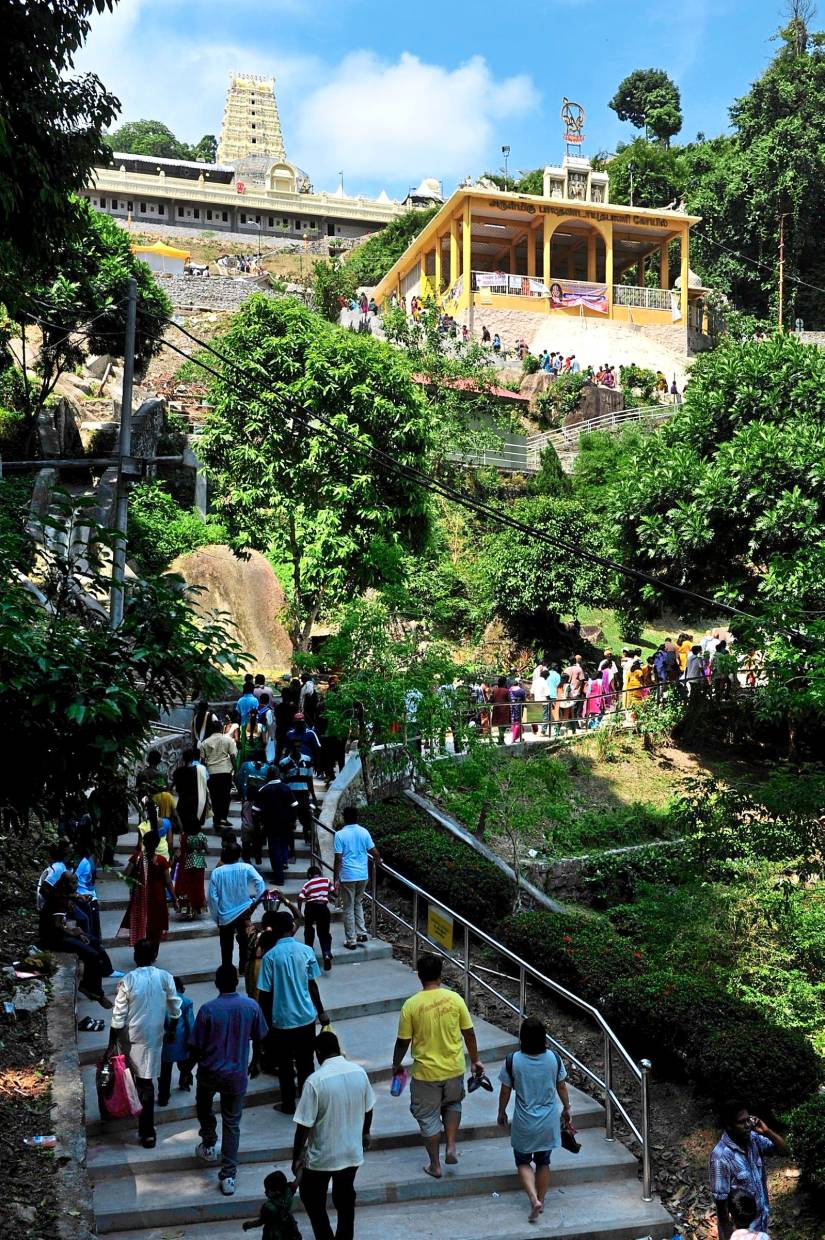 This hilltop temple in Penang always attract a steady stream of devotees and curious visitors.
