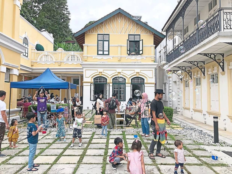 The family-fun arts market Pasar Seloka series at Rumah Tangsi last December. Photo: Rumah Tangsi