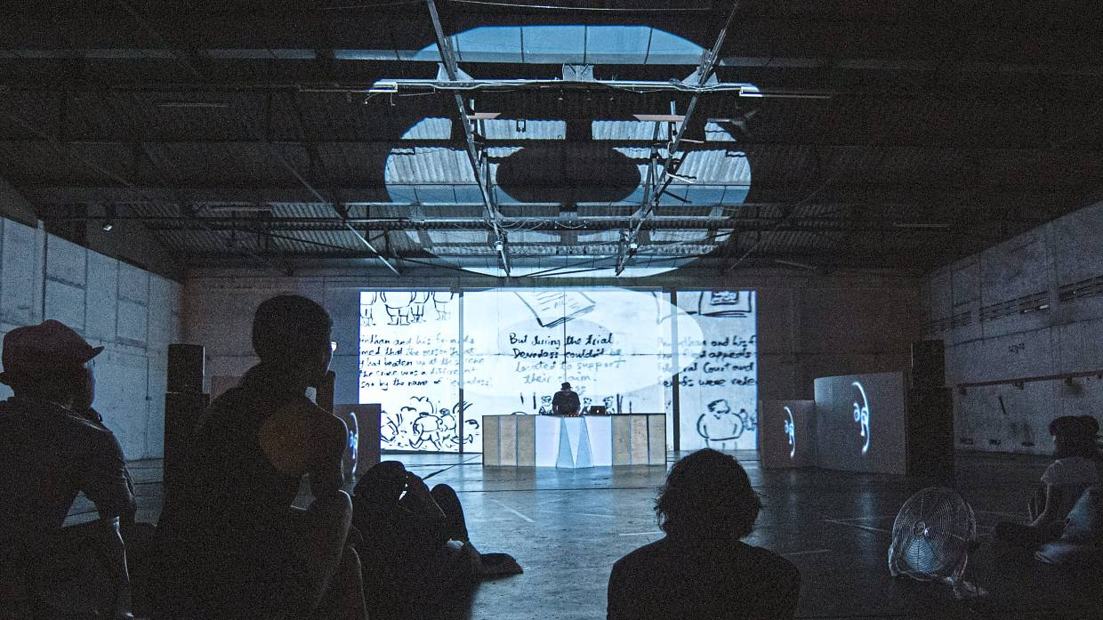 The experimental-minded Seni Tiga monthly series at KongsiKL. Photo: Low Pey Sien