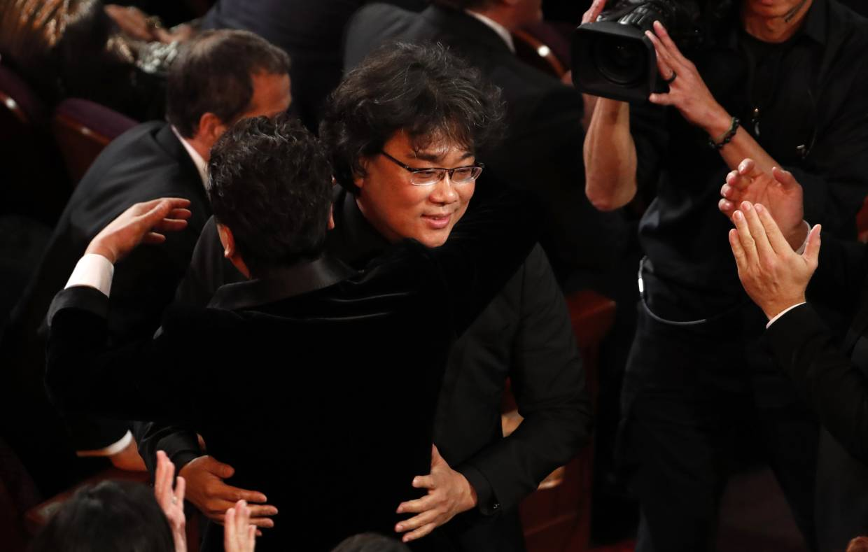 Bong Joon-ho wins the Oscar for Best Picture for
