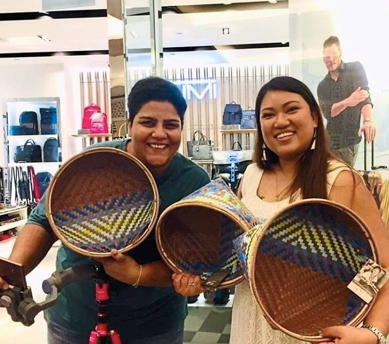 Primila (right) and Makers & Co event co-organiser Paramjit Kaur hope more people will move towards sustainable living to care for Mother Earth. Photo: Primila Ganash