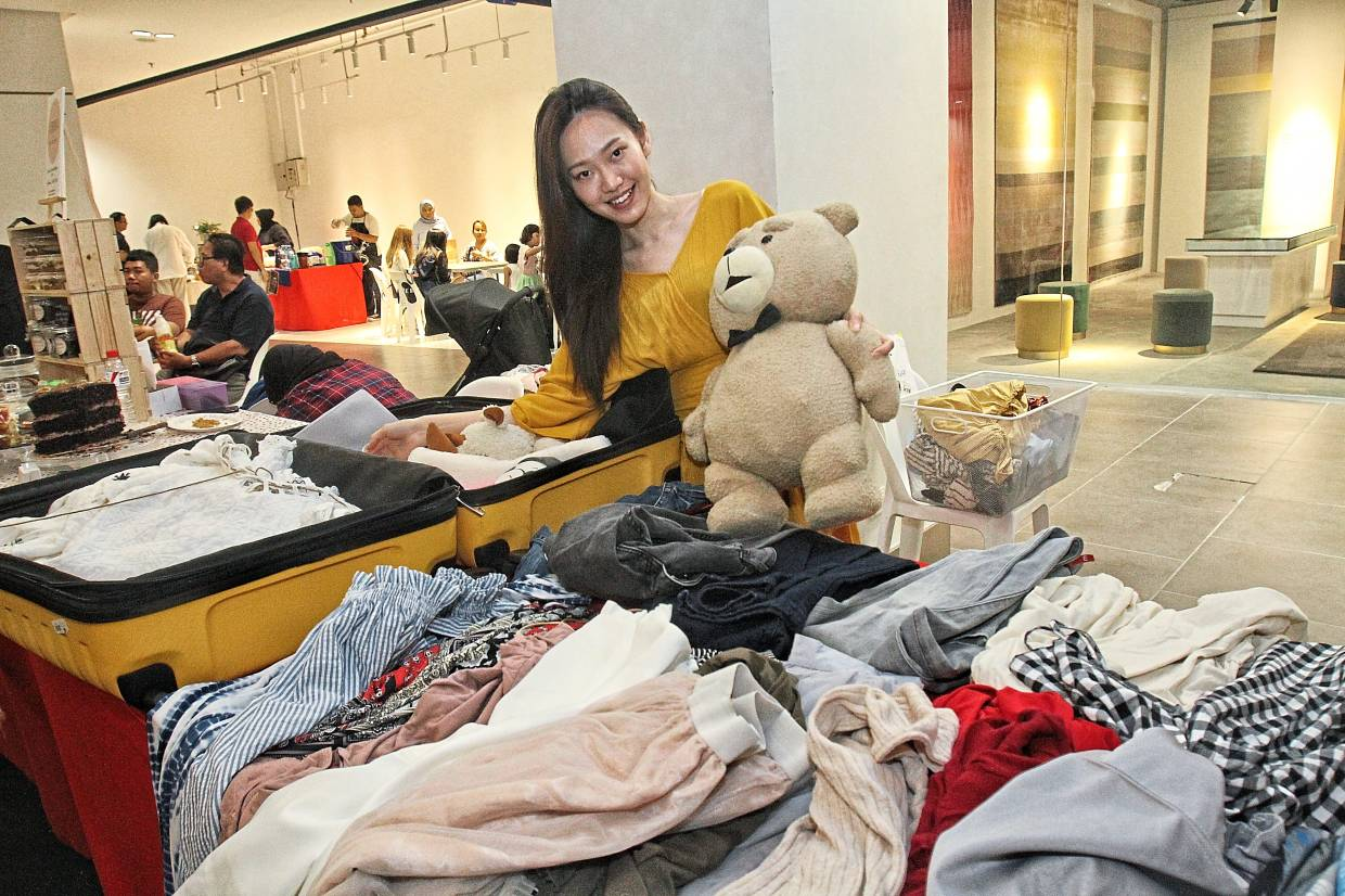 Kho channelled proceeds from her sale of pre-loved clothes to charity.