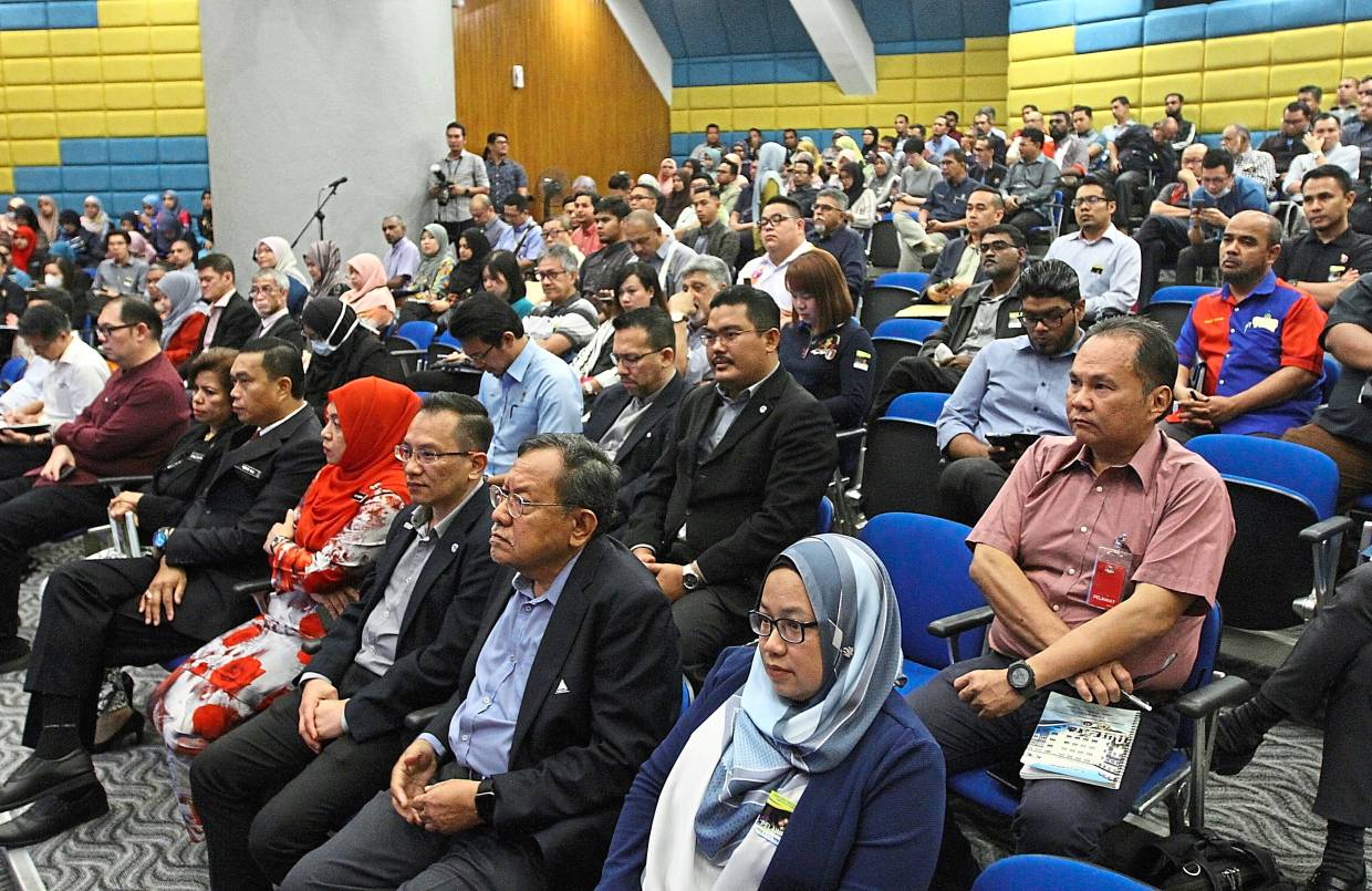Part of the audience at the event.