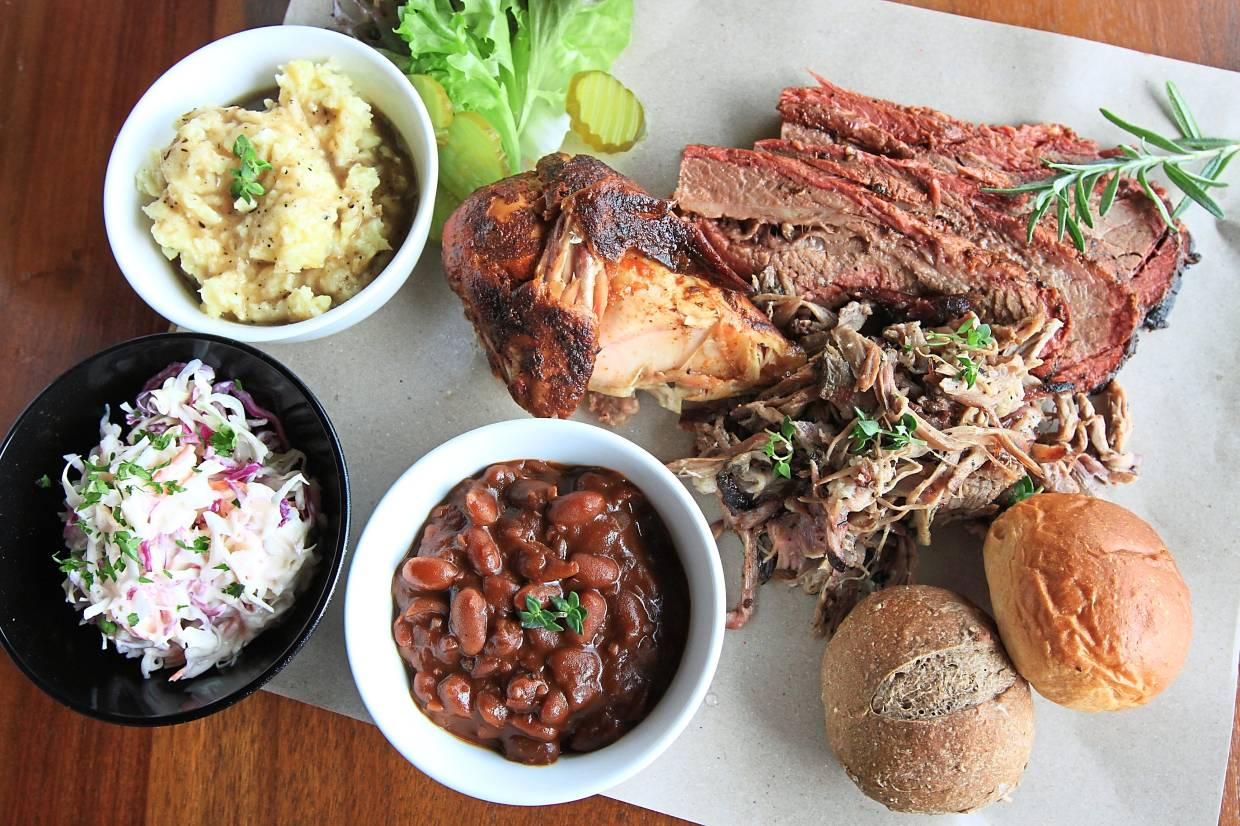 The mixed smoked combo is a carnivore's dream platter, with the stand-out item here being the smoky, melt-in-the-mouth brisket (although the pulled lamb is a close second).