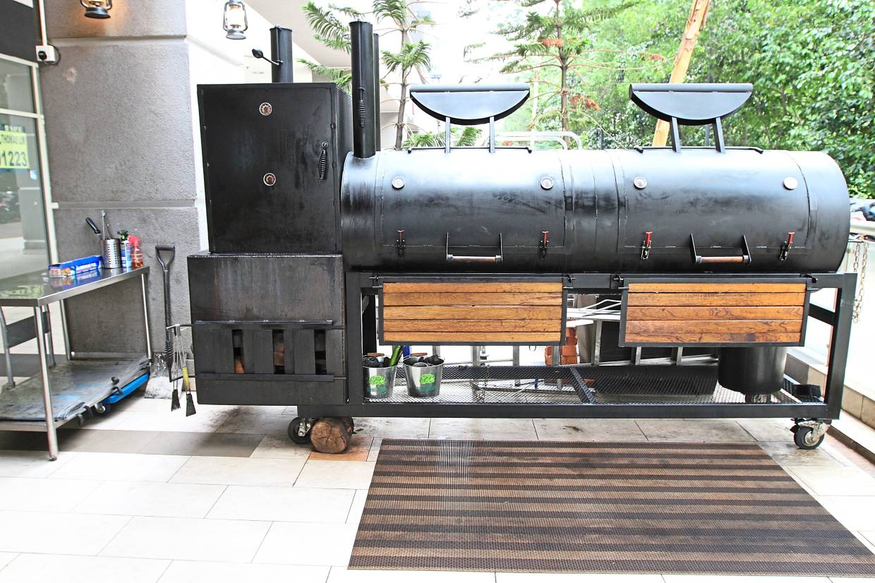 The purpose-built smoker is enormous and can easily smoke 300 kilos of meat at one go.