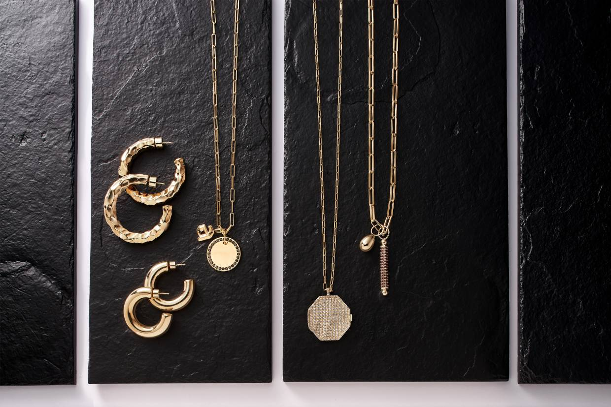 Kin offers demi-fine pieces, straddling the categories of fine and fast-fashion jewellery.