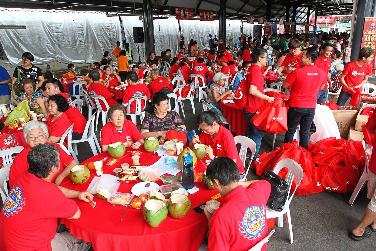 A huge crowd attending MBPJ's Chinese New Year celebration.