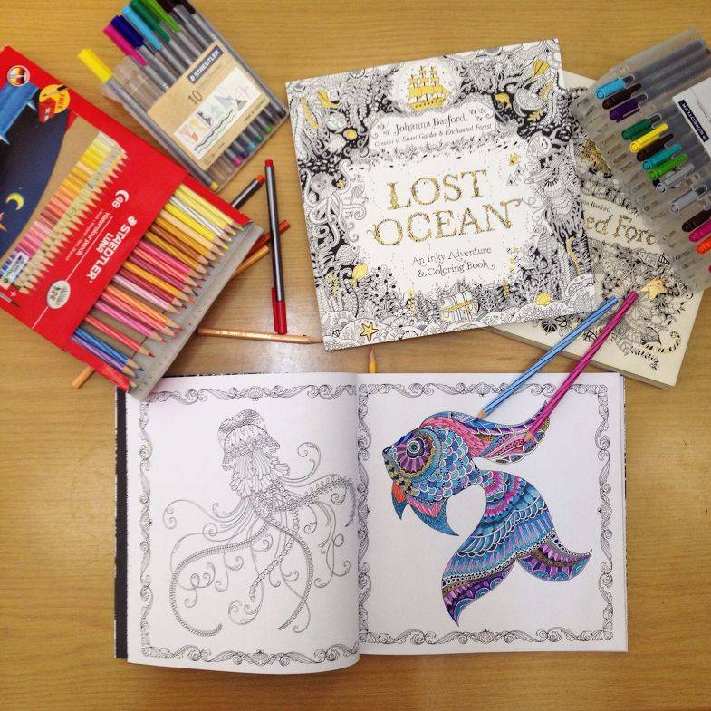 Adult colouring books can help reduce stress by engaging one's mind in a relaxed way. — Filepic
