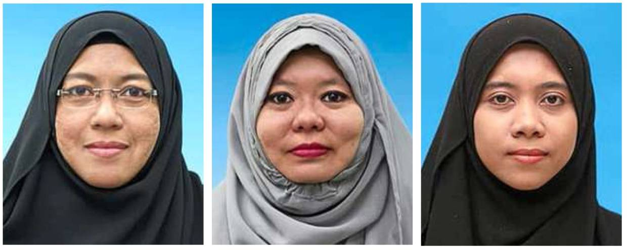 Among the scientists involved in the project are (from left) project leader Dr Nazirah Ahmad, Dr Mazlina Mustapha Kamal and Mahirah Mohd Idris.
