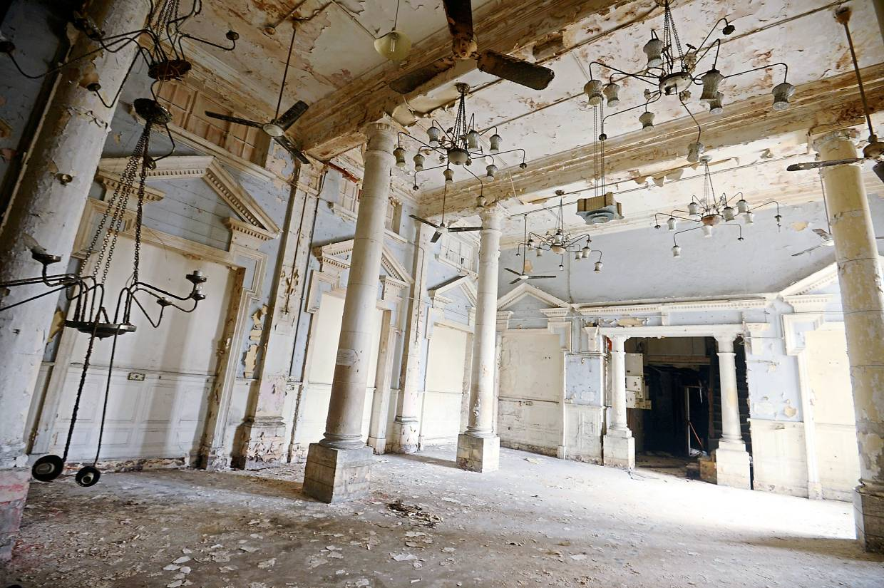 The lobby of the abandoned Majestic Station Hotel in Ipoh. — Filepic