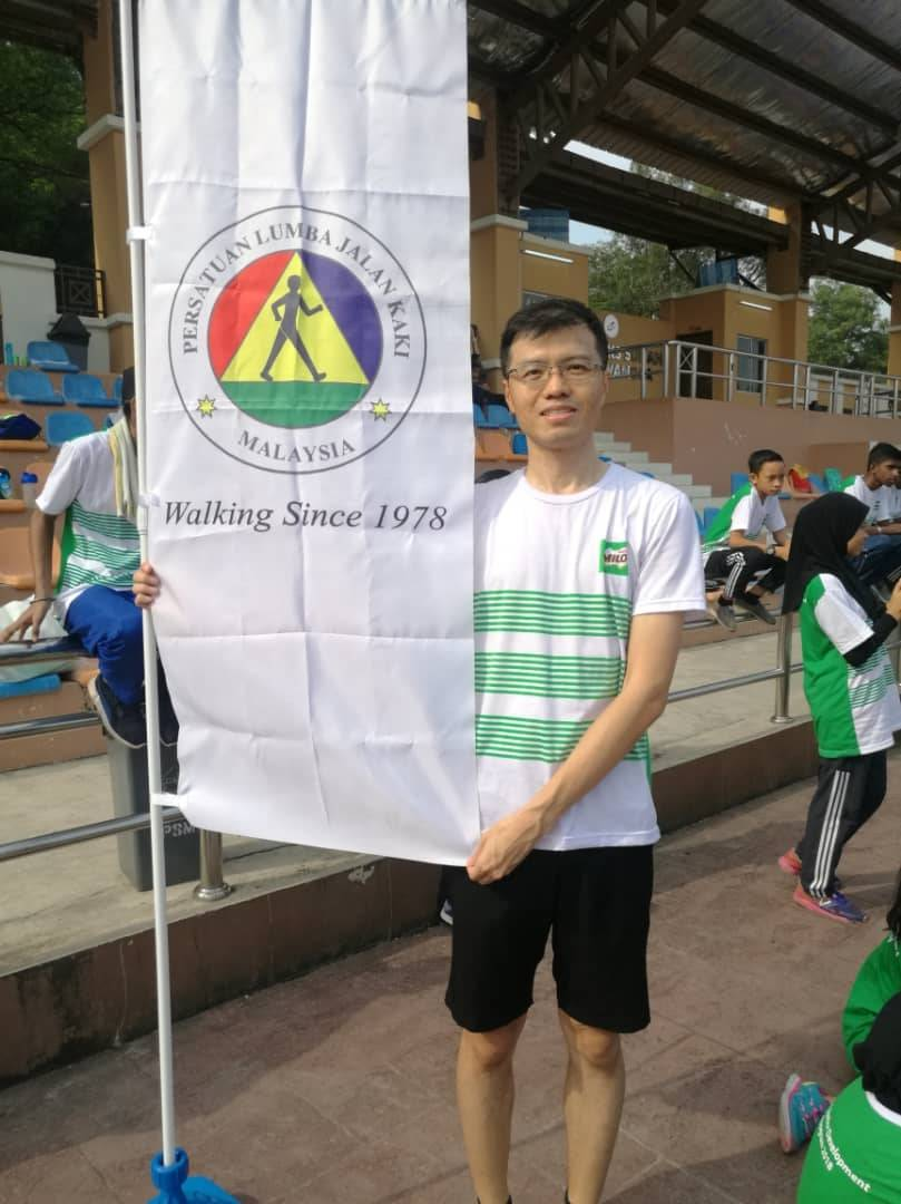 Ng regularly takes part in competitions organised by the Race Walkers Association Of Malaysia.