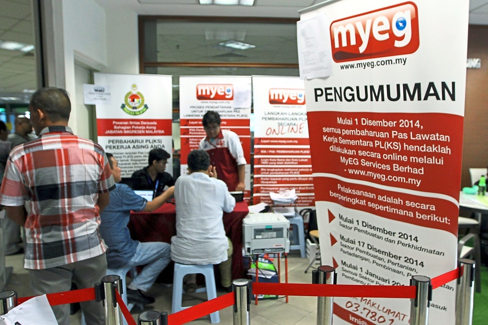 MyEG Services Bhd was the biggest decliner, closing 6.77% lower at RM1.24.