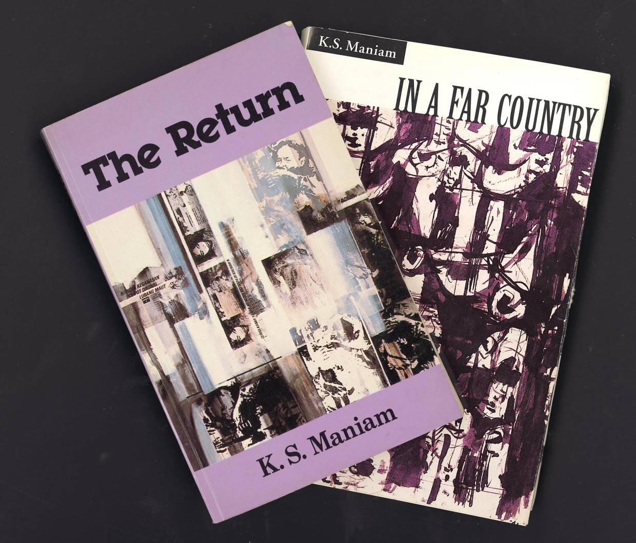 Maniam's first two novels - 'The Return' (1981) and 'In A Far Country' (1993). Photo: Filepic