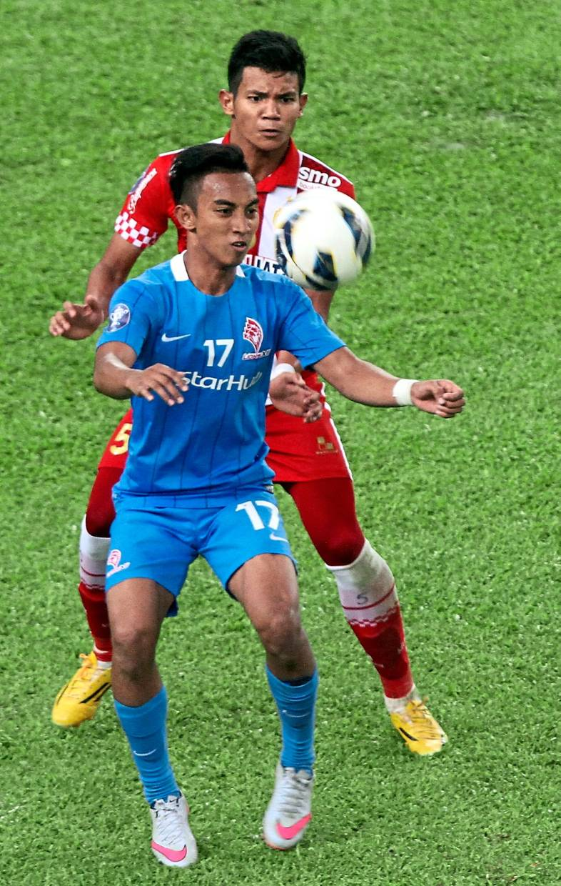 Counting on you: Terengganu have signed Singaporean international winger Faris Ramli (front) to strengthen their attack.