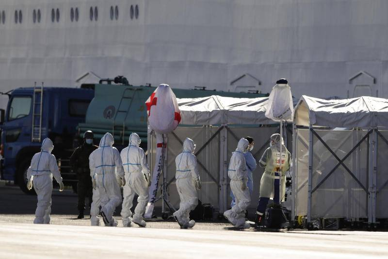 Japan won't test medical workers on cruise ship for virus