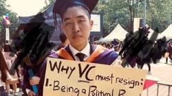 Student activist says will be charged over UM convocation protest