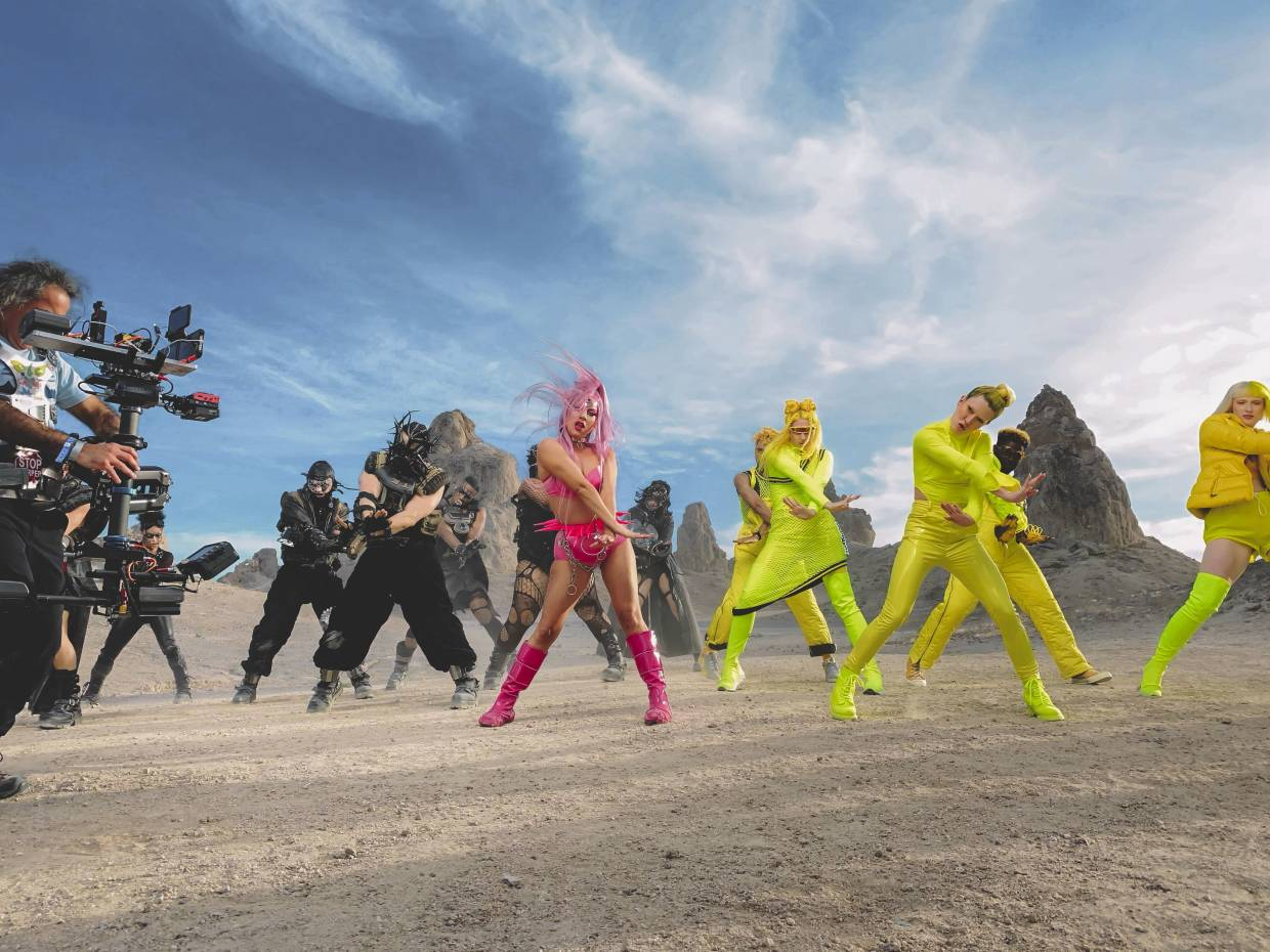 The entire music video for Lady Gaga's 'Stupid Love' was shot on an iPhone.