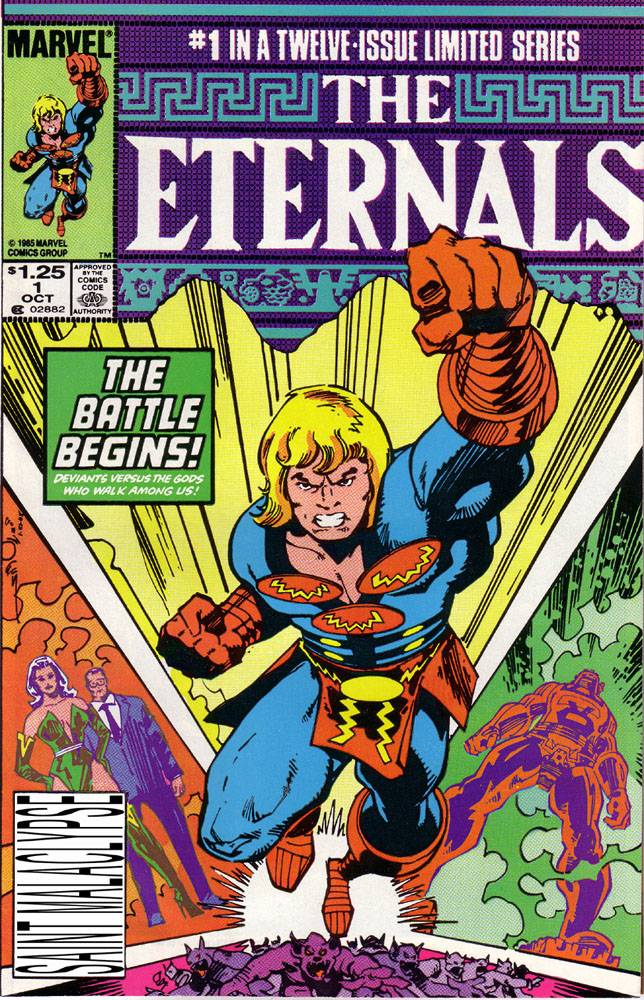 The Eternals were created by the legendary Jack Kirby.